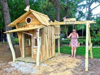 Swamp house playhouse front